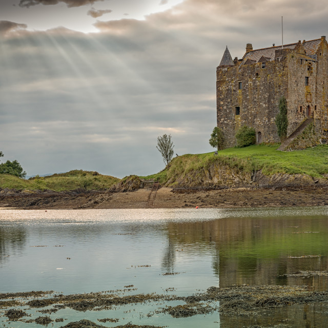 """Castle Stalker, Appin, Scotland"" stock image"