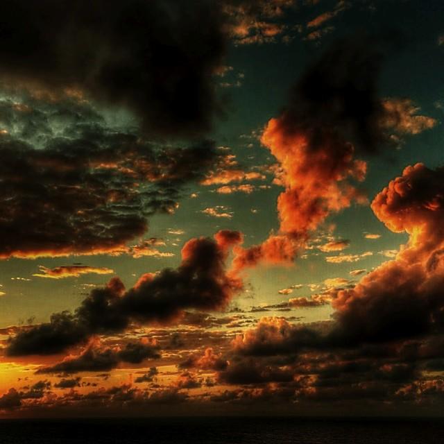 """Atlantic Ocean Sunset-1"" stock image"