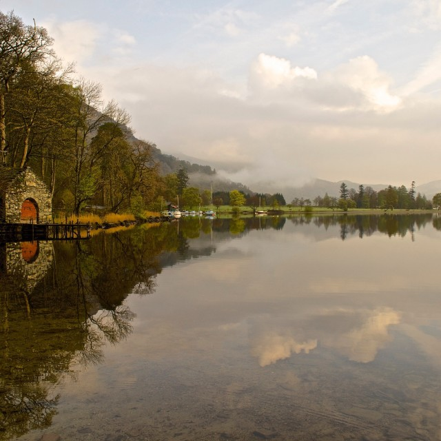 """Glenridding Reflections"" stock image"