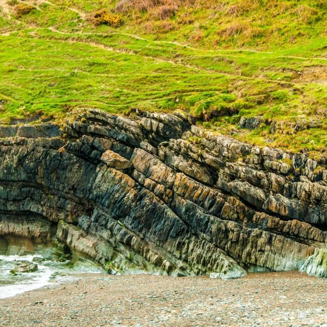 """Anticlinal Folded Rock Strata"" stock image"