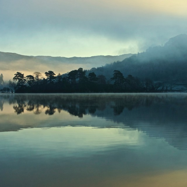 """Rydal water sunrise"" stock image"
