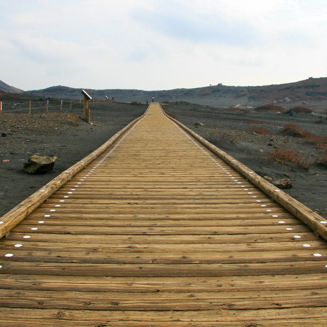 """Mount Aso boardwalk"" stock image"