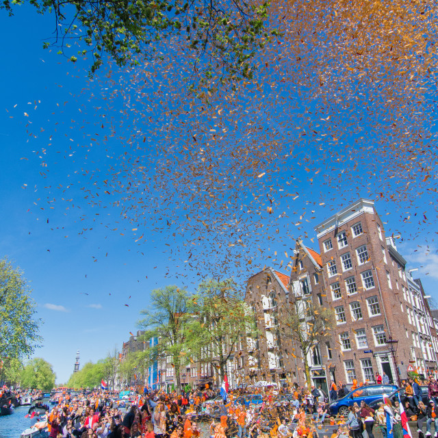 """King's Day, Amsterdam"" stock image"