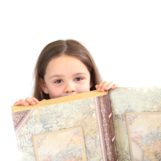 """""""Young girl reading"""" stock image"""