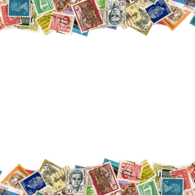 """Postage stamps border"" stock image"