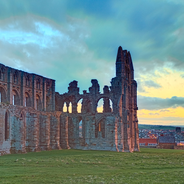 """Whitby Abbey Panorama"" stock image"