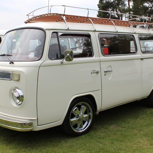 """""""VW Camper in white"""" stock image"""