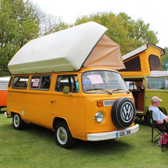 """""""VW Campers in use"""" stock image"""
