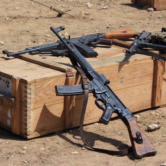"""WW2 German Machine Guns"" stock image"