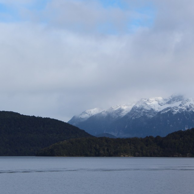 """""""Lake Manapouri, New Zealand"""" stock image"""