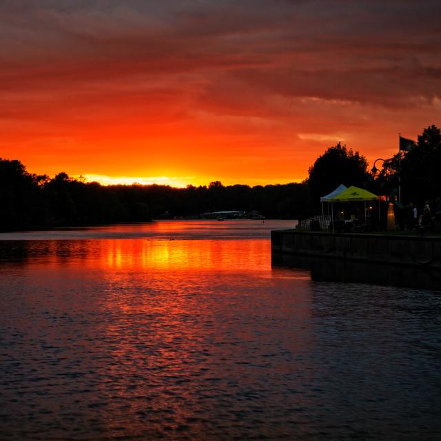 """Seneca River Sunset"" stock image"
