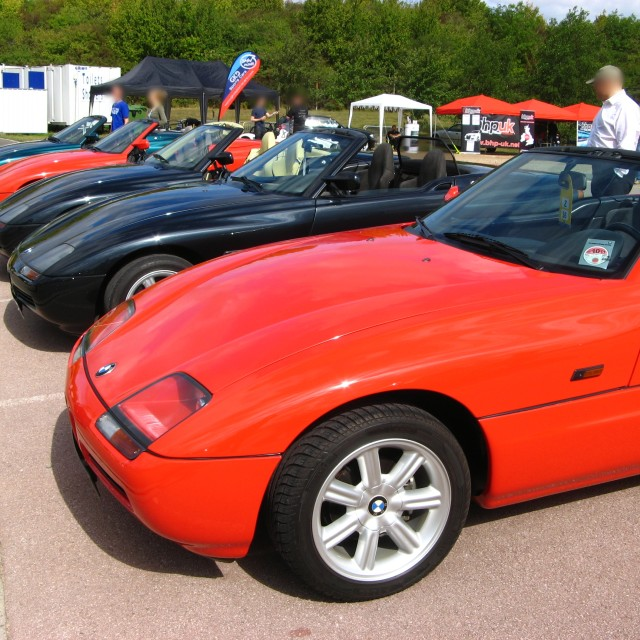 """Collection of BMW Z1 convertibles"" stock image"