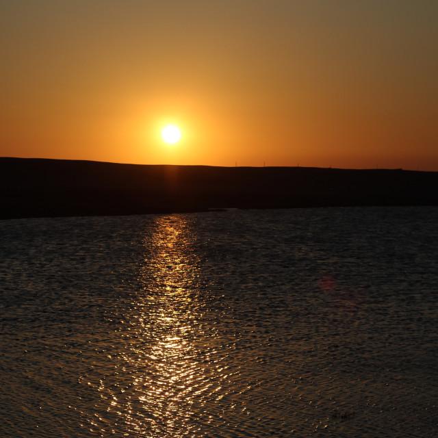"""Chesil Beach Sunset"" stock image"