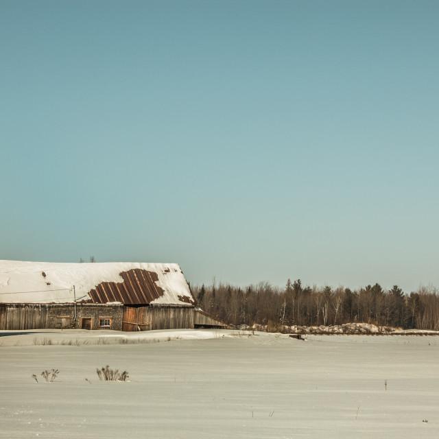 """1930's barn"" stock image"