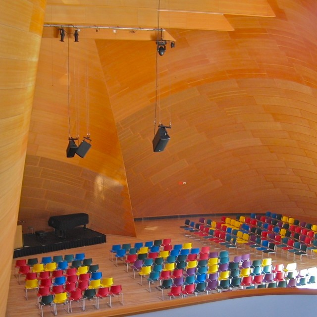 """Walt Disney Concert Hall interior"" stock image"