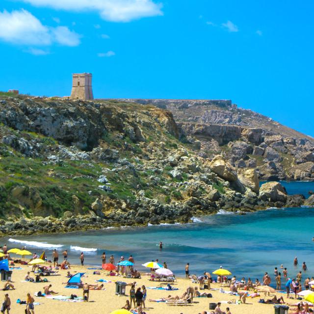 """Malta - Golden Bay"" stock image"