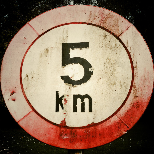 """5 Km Circle"" stock image"