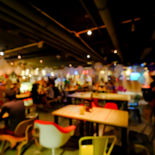 """Blurred background of an underground pub or restaurant"" stock image"