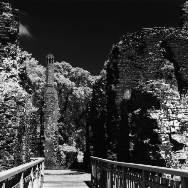 """Grosmont Castle"" stock image"