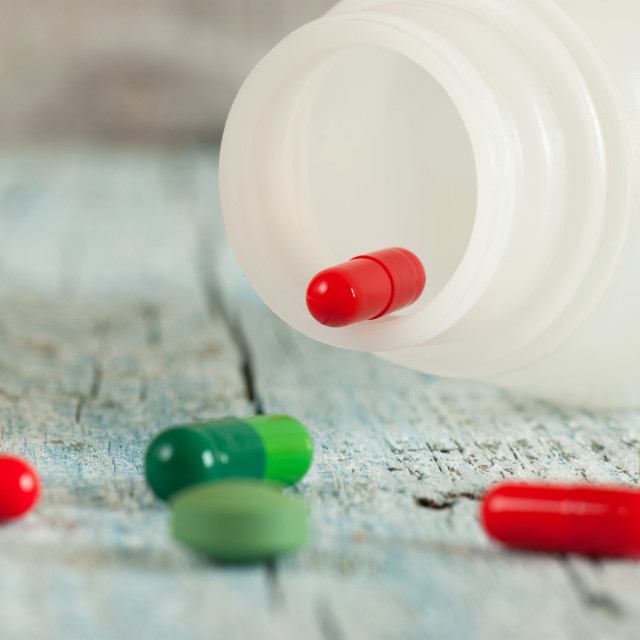 """""""Green and red pills"""" stock image"""