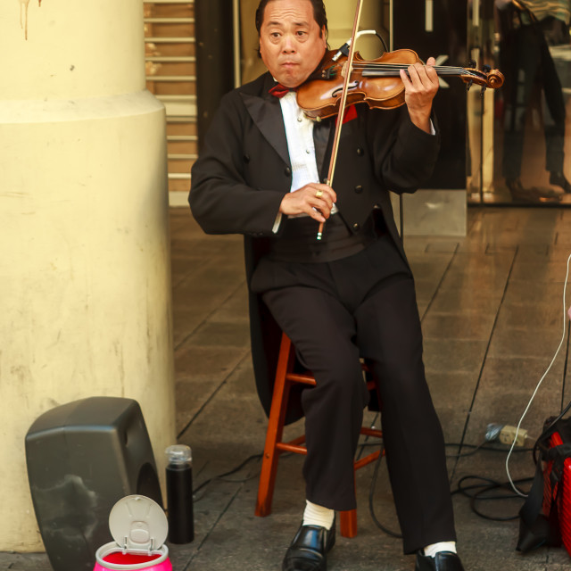 """Busker"" stock image"