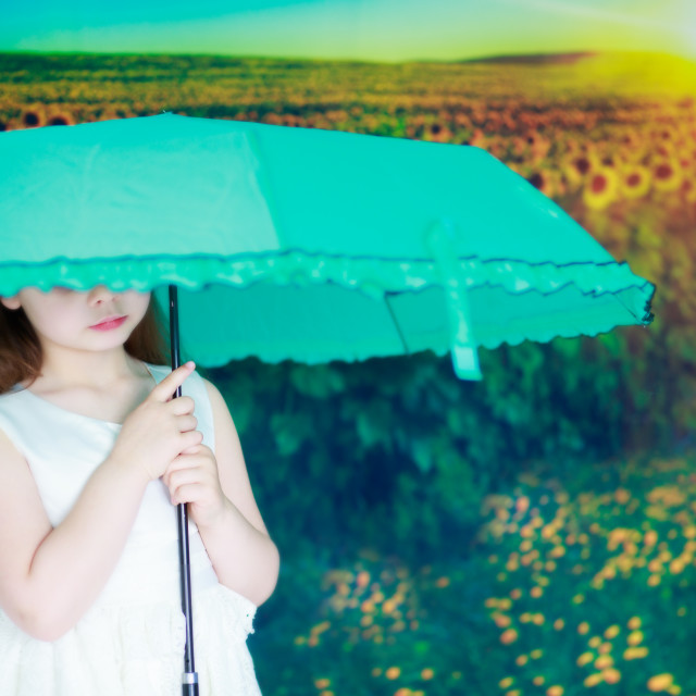 """Umbrella sunshade"" stock image"