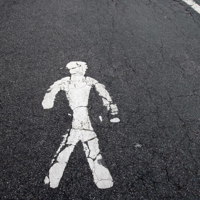 """""""Pedestrian Lane Symbol"""" stock image"""