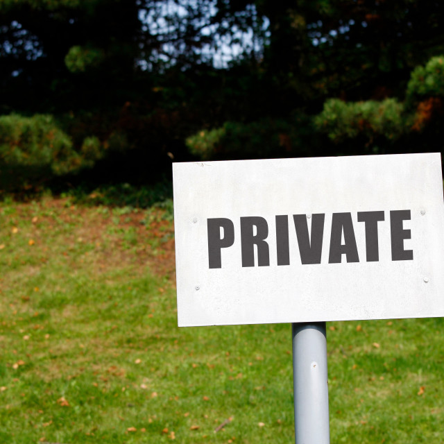 """""""Private Signpost"""" stock image"""