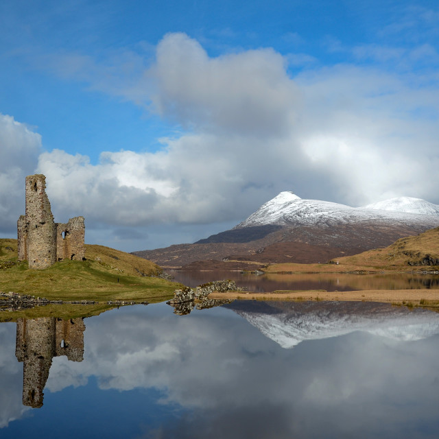"""Ardvreck Castle, Assynt, Scotland"" stock image"