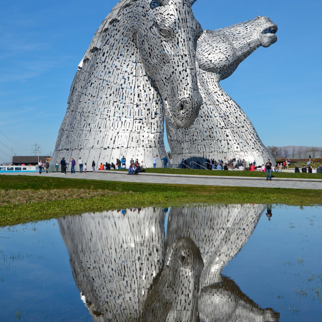 """Kelpies, Falkirk, Scotland"" stock image"