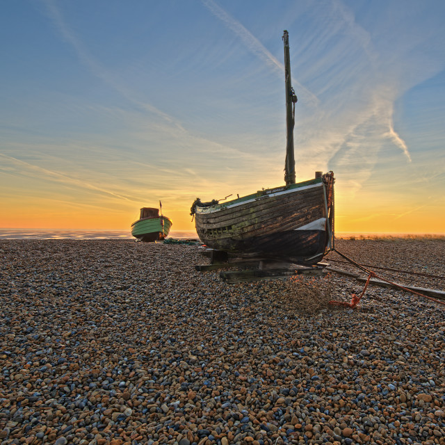 """Beached Boats"" stock image"