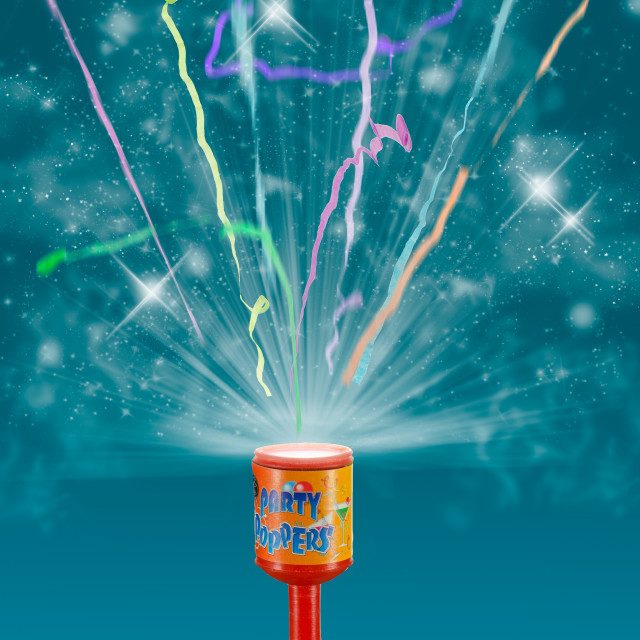 """Exploding Party Popper"" stock image"