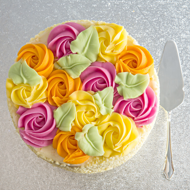 """Rose Bouquet Cake"" stock image"