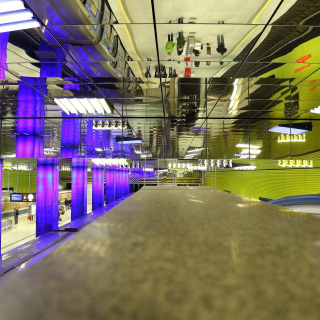 """""""Mirrored underground"""" stock image"""