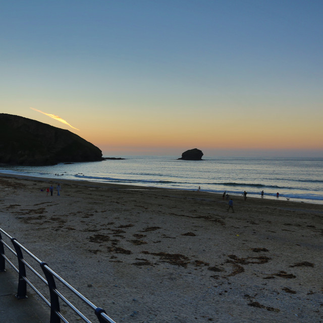 """Sunset at Portreath"" stock image"