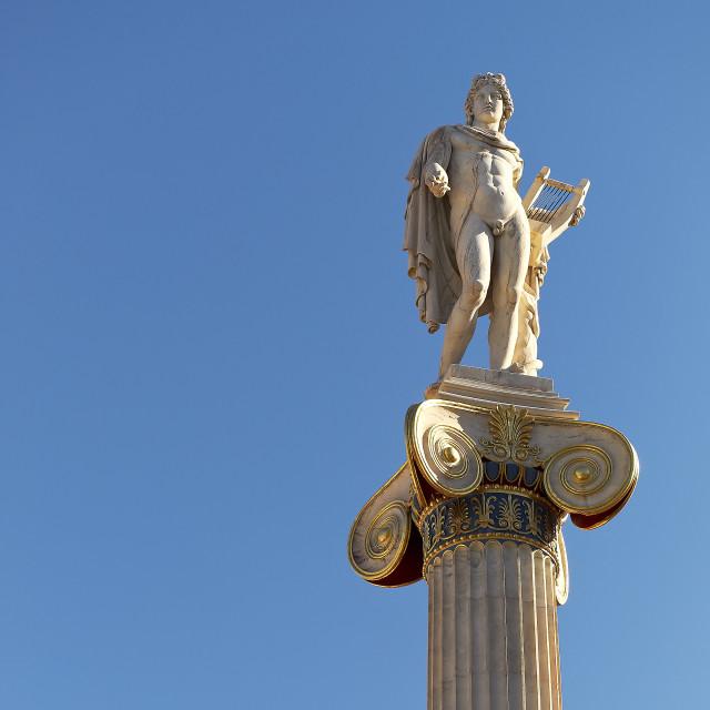 """Apollo statue on column"" stock image"