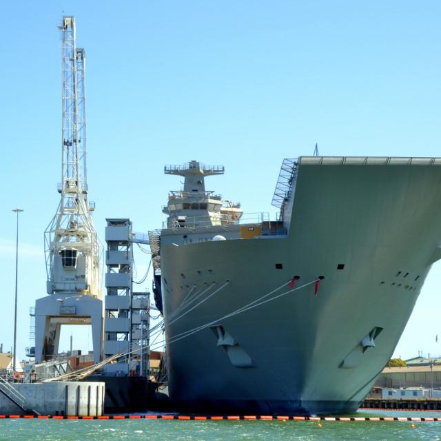 """New warship"" stock image"