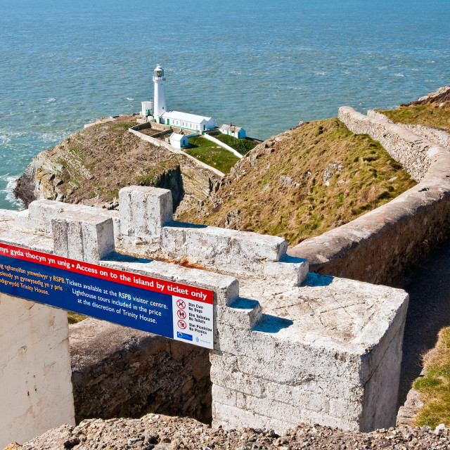 """""""South Stack Lighthouse, Anglesey"""" stock image"""