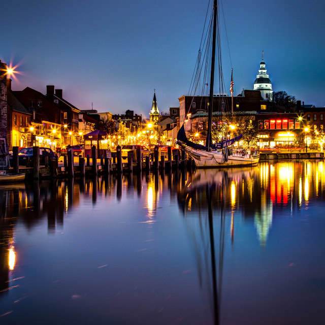 """Annapolis - Ego Alley & Main Street"" stock image"