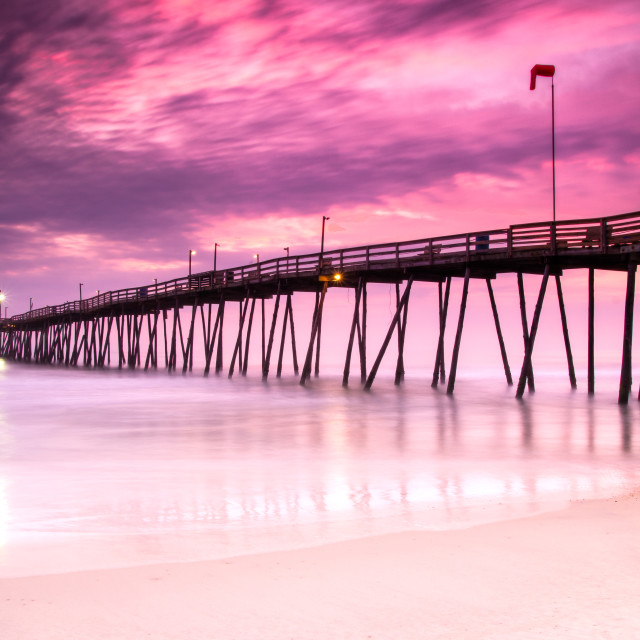 """Avalon Pier Sunrise"" stock image"