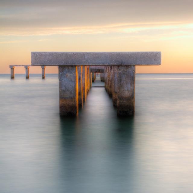 """Boca Grande Pier"" stock image"