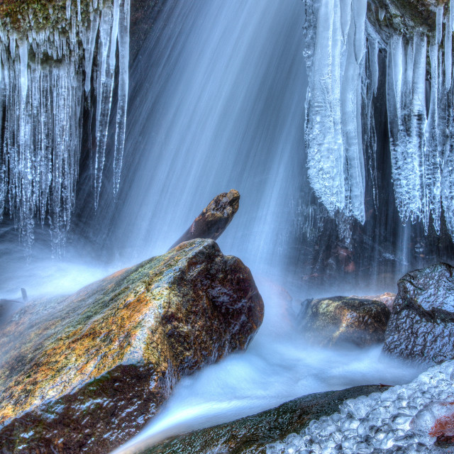 """Cascade Falls Icicles"" stock image"