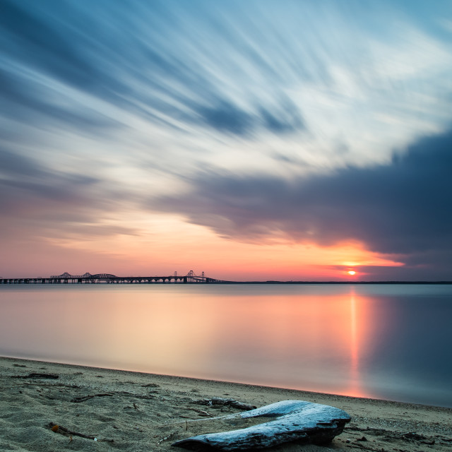 """Chesapeake Sunset"" stock image"