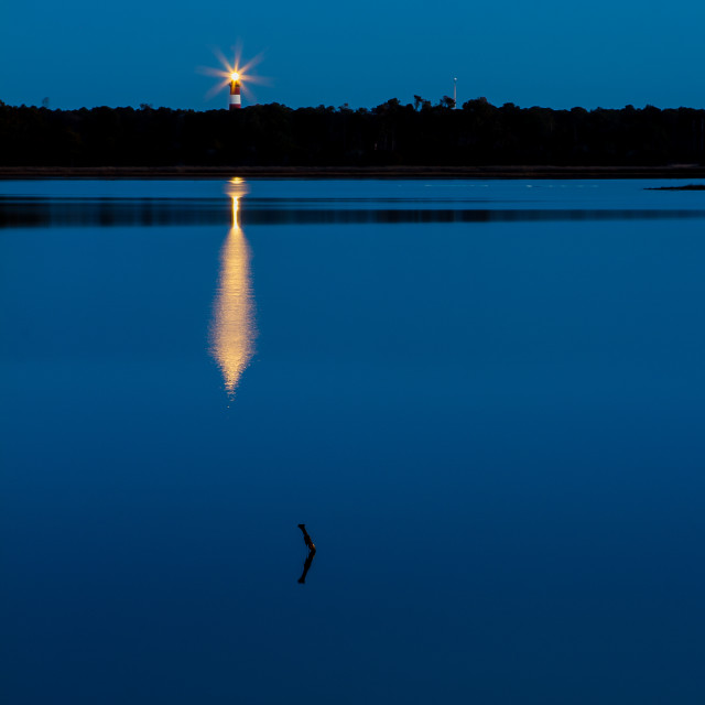 """Chincoteague Lighthouse at Dawn"" stock image"