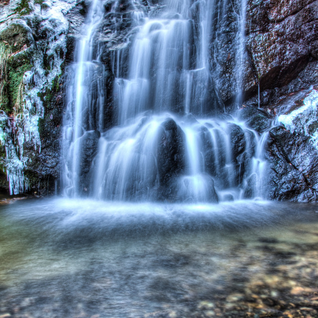 """Icy Cascade Falls"" stock image"