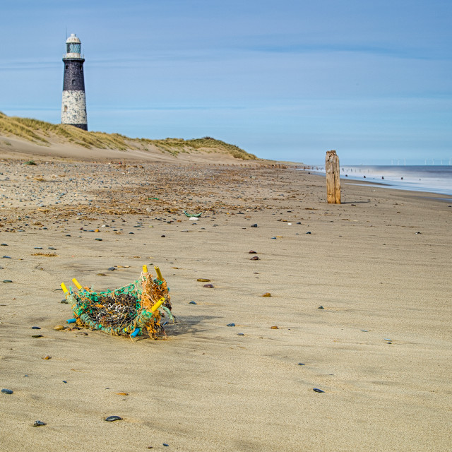 """Spurn Point Lighthouse"" stock image"