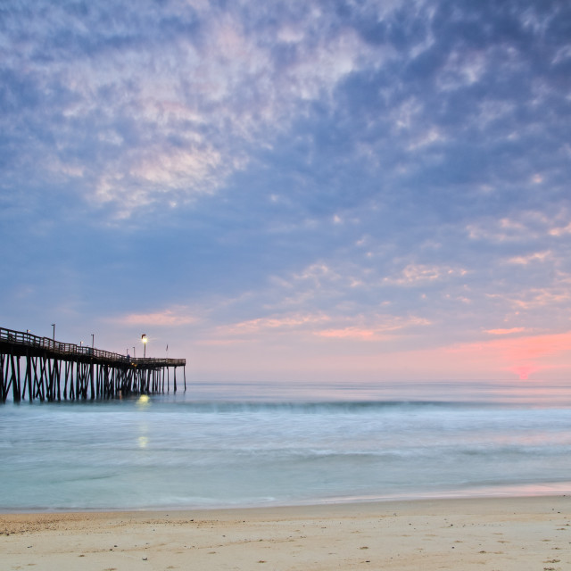 """Sunrise at Kill Devil Hills"" stock image"