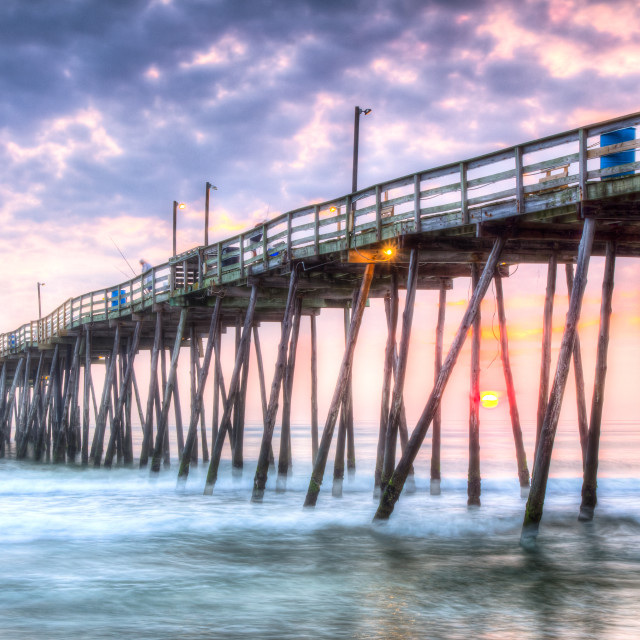 """Sunrise Under The Avalon Pier"" stock image"