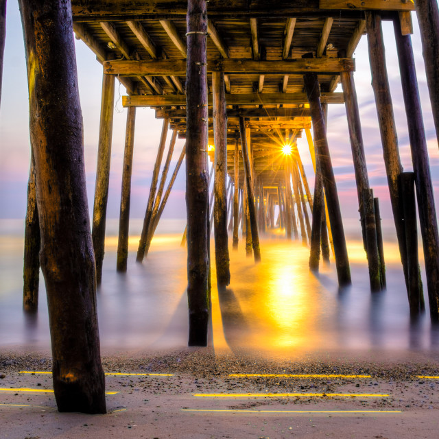 """Under The Avalon Pier"" stock image"