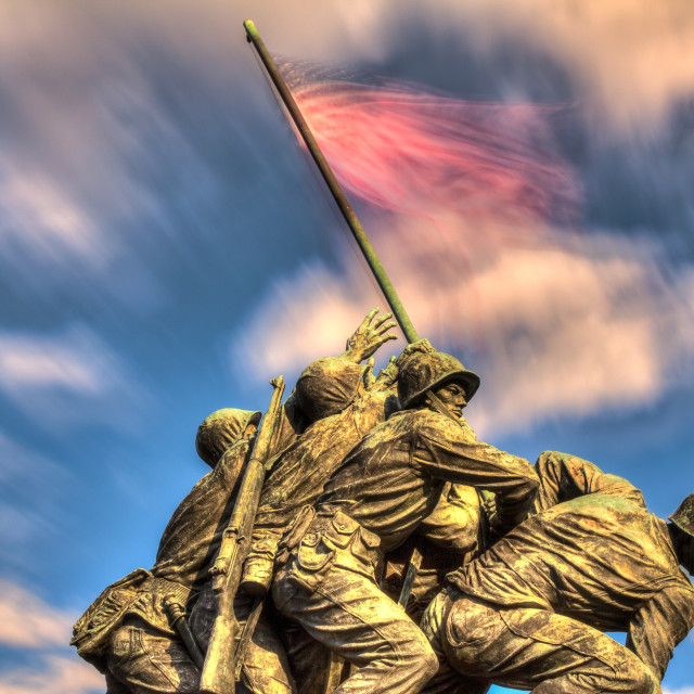 """US Marine Corps War Memorial"" stock image"